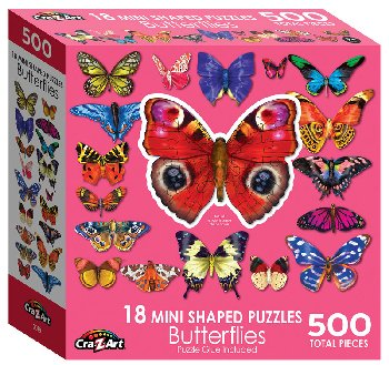 Mini Shaped Butterflies Puzzle (500 Pieces)
