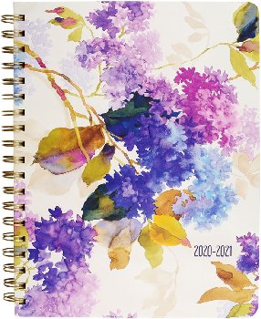 Mom's 2021 Weekly Planner: Lilacs (July 2020 - December 2021)