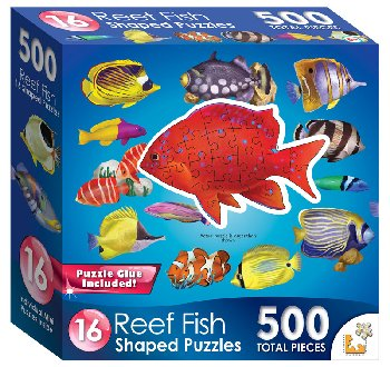 Mini Shaped Reef Fish Puzzle (500 Pieces)