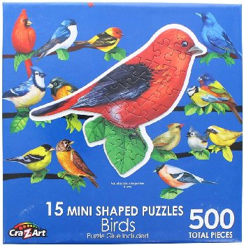 Mini Shaped Songbirds II Puzzle (500 Pieces)