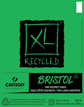 "Canson XL Recycled Bristol Pad (11"" X 14"")"