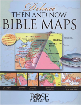 Deluxe Then And Now Bible Maps w/ CD-ROM