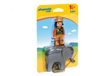 Zookeeper with Elephant (Playmobil 1-2-3)