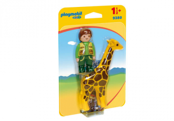 Zookeeper with Giraffe (Playmobil 1-2-3)