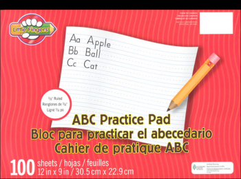 "Little Fingers ABC Practice Tablet - 12"" x 9"" (100 sheets)"