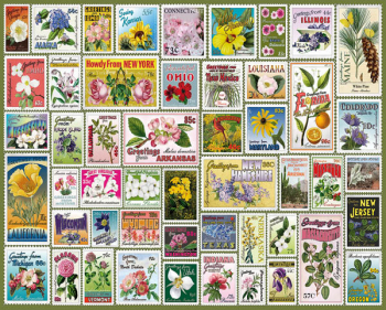 State Flowers & Stamps Puzzle (1000 piece)