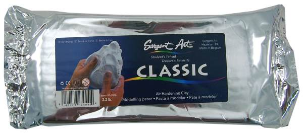 Air Hardening Clay White - 2lb