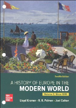 History of Europe in the Modern World, Volume 2 Twelfth Edition