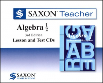 Saxon Teacher for Algebra ½ (3rd Edition) CD-ROM Set