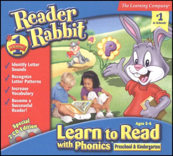 Reader Rabbit Learn to Read Phonics Pre-Kin CD-ROMS