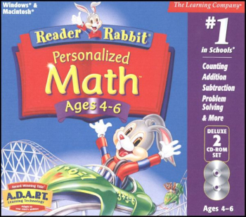 Reader Rabbit Personalized Math Ages 4-6 CD-ROMS