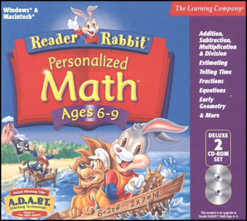 Reader Rabbit Personalized Math Ages 6-9 CD-ROMS