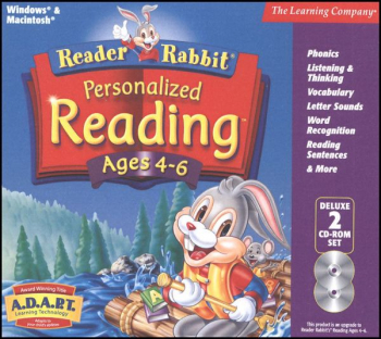 Reader Rabbit Personalized Reading Ages 4-6 CD-ROMS