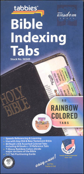 Noah's Ark Animal Bible Tabs, Rainbow
