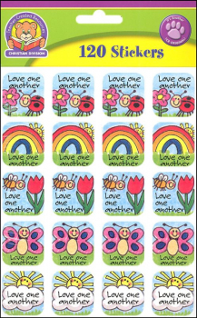 Love One Another (Child 10 Comm) Stickers