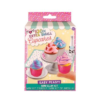 100% Extra Small Mini Clay Kit - Cupcakes