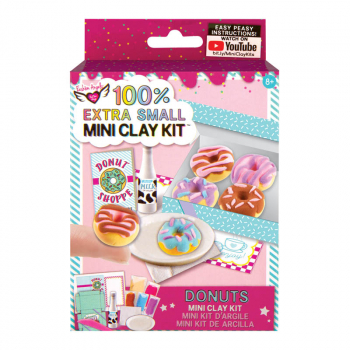 100% Extra Small Mini Clay Kit - Donuts