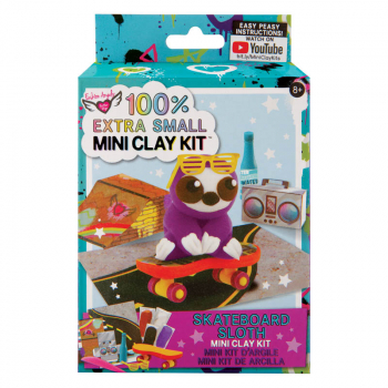 100% Extra Small Mini Clay Kit - Skateboard Sloth