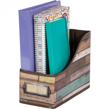 Reclaimed Wood Decorative Book Bin