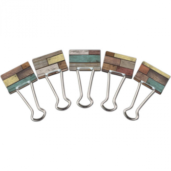 Medium Binder Clips - Reclaimed Wood