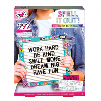 Spell It Out! Letterboard Design Kit
