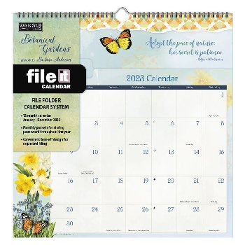 Botanical Gardens 2021 File-It Wall Calendar