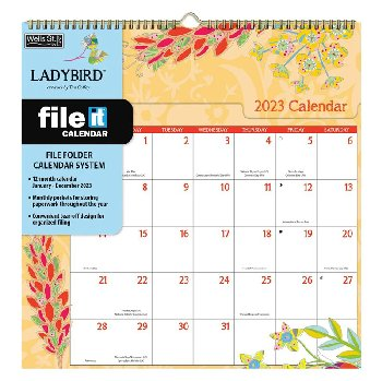 Ladybird 2021 File-It Wall Calendar