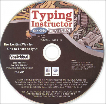 Typing Instructor for Kids Gold (Mac Version) in paper sleeve
