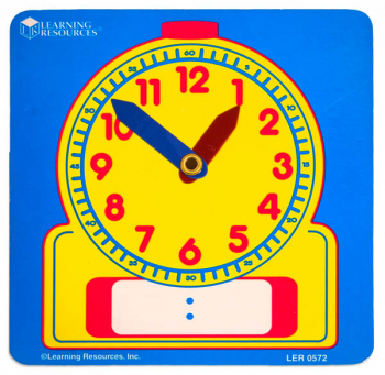 Write On/Wipe Off Student Clock