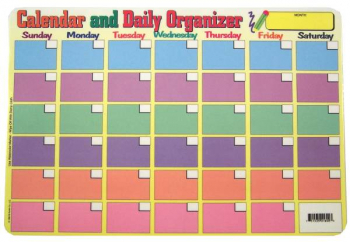 Calendar and Daily Organizer / Chores and Things to Do Placemat