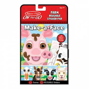 Make-a-Face Reusable Sticker Pad - Farm