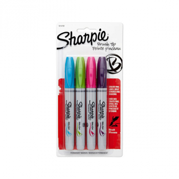 Sharpie Brush Tip - 4 count (Fashion Colors)