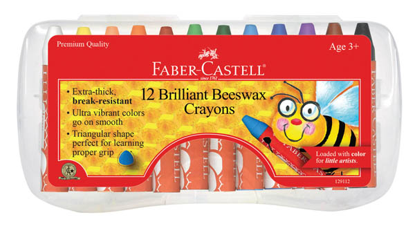 Brilliant Beeswax Crayons - 12 Count in case