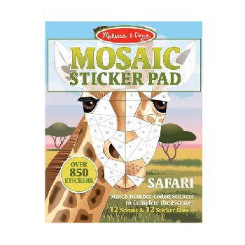 Mosaic Sticker Pad Safari