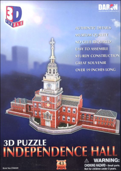 Independence Hall 3-D Puzzle