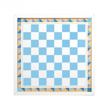 Wooden Backgammon & Checkers - Blue