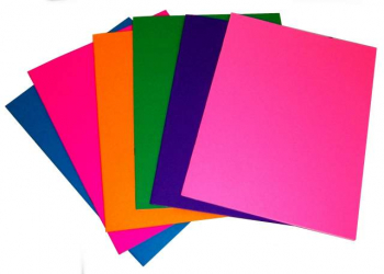 "Bright Books - Set of 6 Assorted Colors (8 1/2"" x 11"")"