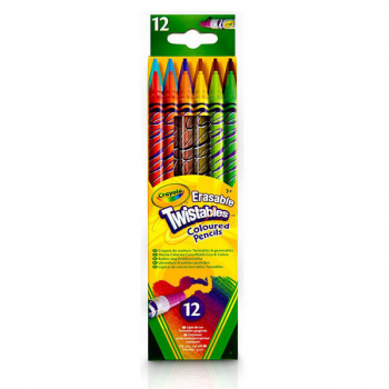 Crayola Erasable Twistable Colored Pencils - 12 count