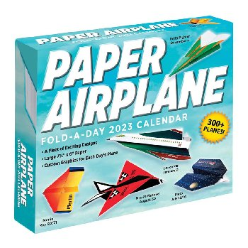 Paper Airplane Fold-A-Day 2021 Calendar