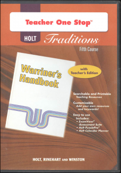 Holt Traditions Warriner's Handbook Teacher's One-Stop Planner CD-ROM Fifth Course Grade 11