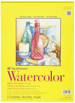 "Watercolor Pad, 11"" x 15"" - 12 Sheets"