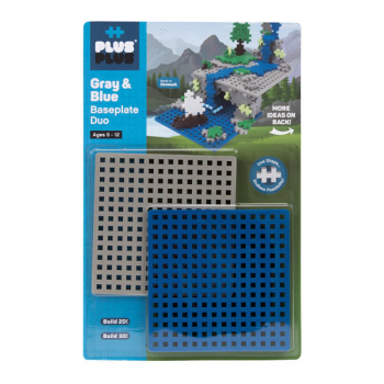 Baseplate Duo - Gray & Blue