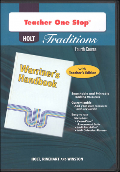 Holt Traditions Warriner's Handbook Teacher's One-Stop Planner CD-ROM Fourth Course Grade 10