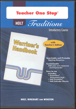 Holt Traditions Warriner's Handbook Teacher's One-Stop Planner CD-ROM Introductory Course Grade 6