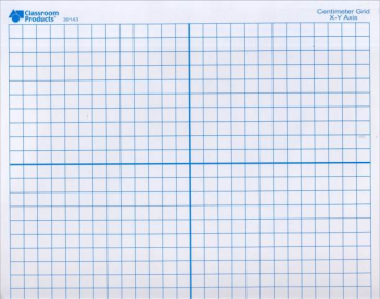 X/Y Axis Dry-Erase Mat Double-Sided