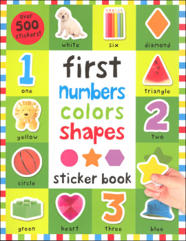 First Numbers, Colors, Shapes Sticker Book