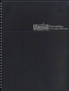 Black Monthly 2-Year Appointment Planner (January 2021 - December 2022)