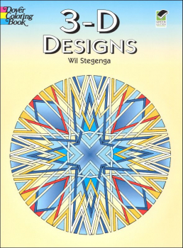 3-D Geometric Designs Coloring Book