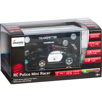RC Mini Police Racer Black & White