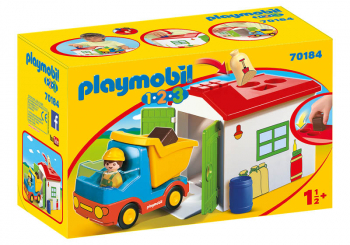 Construction Truck with Garage (Playmobil 1-2-3)